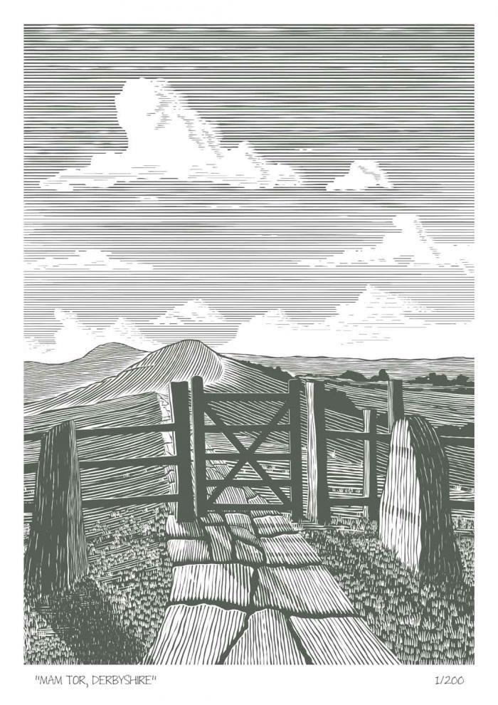 Place in Print John Morris Mam Tor Derbyshire Limited Edition Art Print