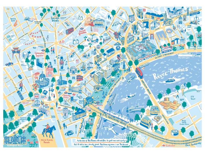 Place in Print Olivia Brotheridge London Northbank Map Art Print