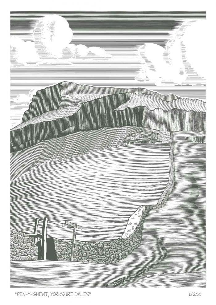 Place in Print John Morris Pen-y-Gent, Yorkshire Dales Limited Edition Art Print