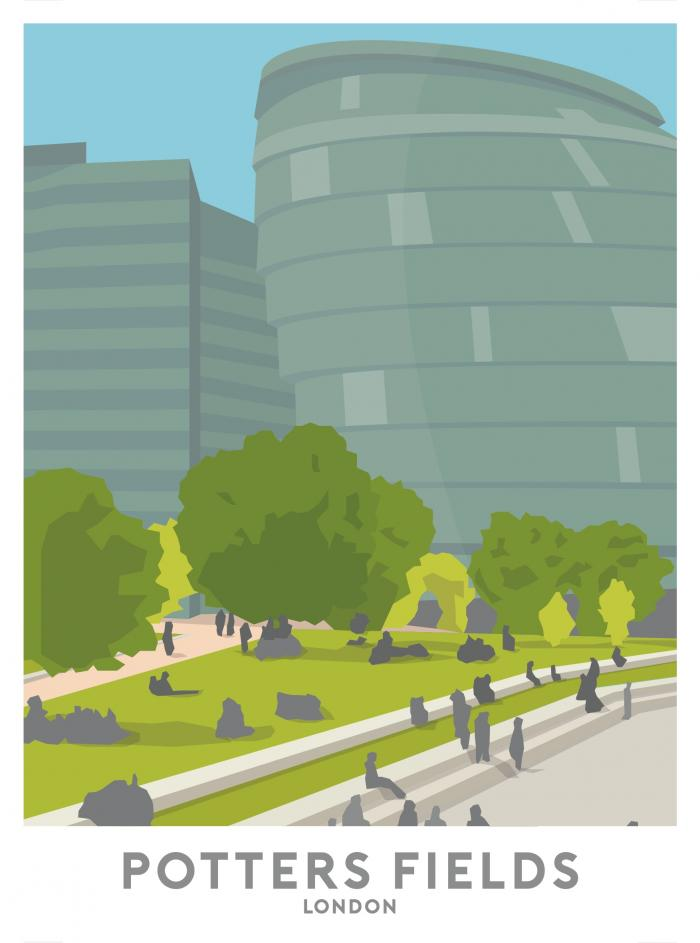 Place in Print Potters Fields Park Travel Poster Art Print