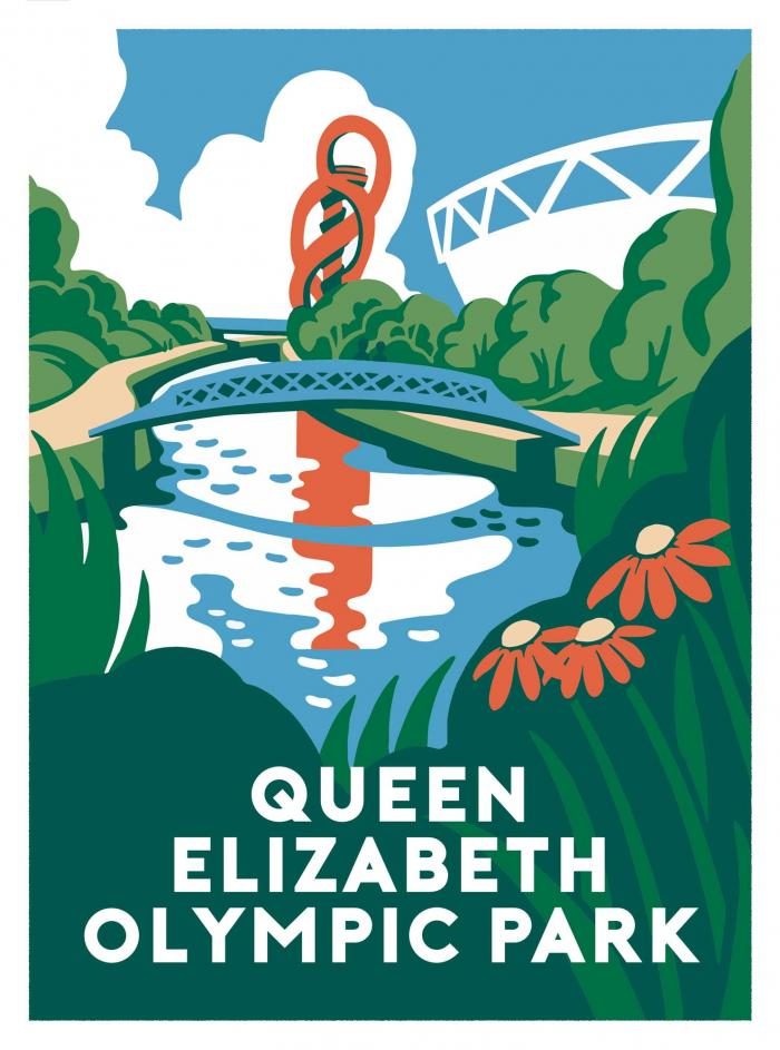 Place in Print Ginette Guiver Queen Elizabeth Olympic Park Art Print
