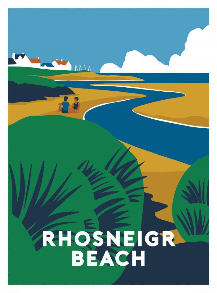 Place in Print Rhosneigr Beach Art Print