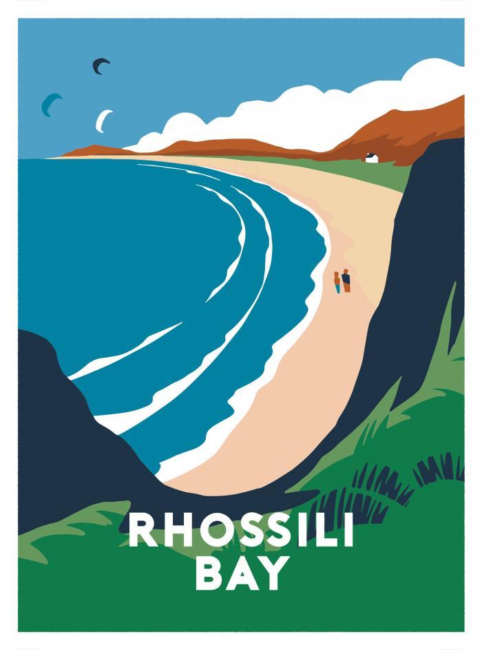 Place in Print Rhossili Bay Art Print