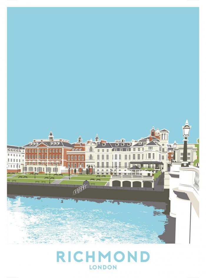Place in Print Richmond, London Travel Poster Art Print