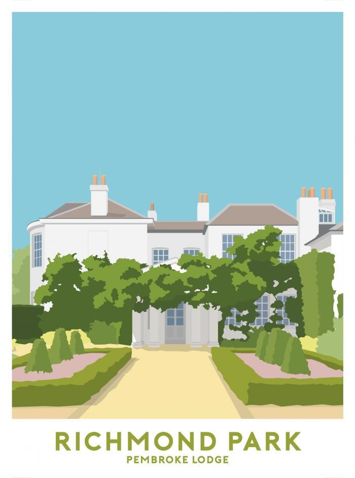 Place in Print Pembroke Lodge Travel Poster Art Print