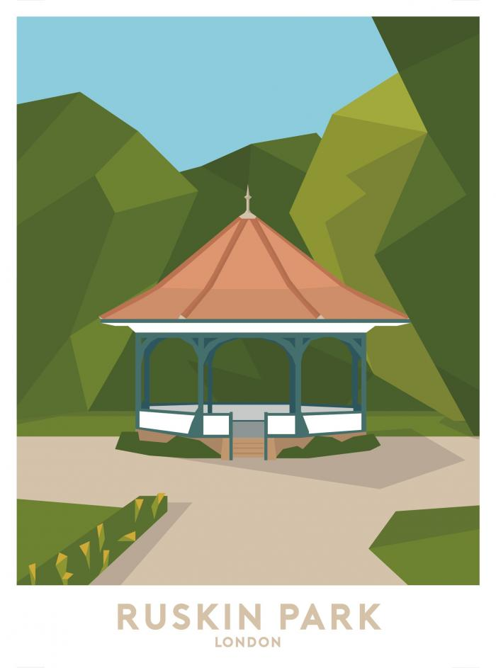 Place in Print Ruskin Park Travel Poster Art Print