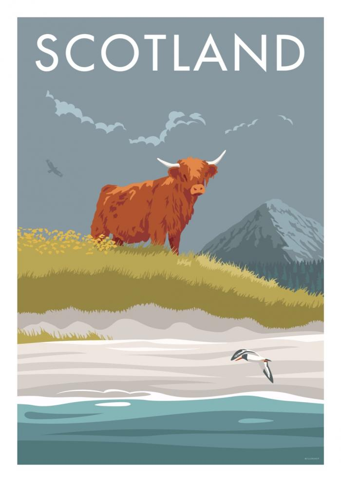 Place in Print Stephen Millership Scotland Angus Travel Poster Travel Poster Art Print
