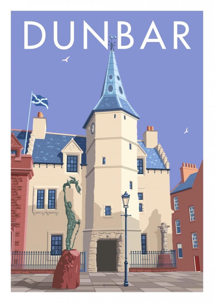 Place in Print Stephen Millership Dunbar Scotland Travel Poster Travel Poster Art Print