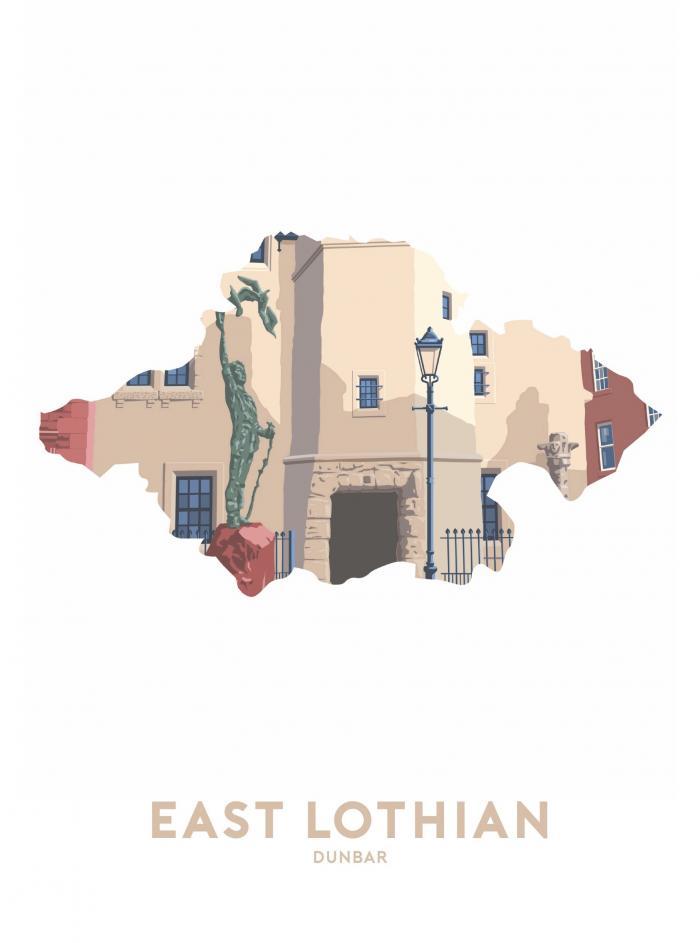 Place in Print Stephen Millership East Lothian - Dunbar Travel Poster Art Print