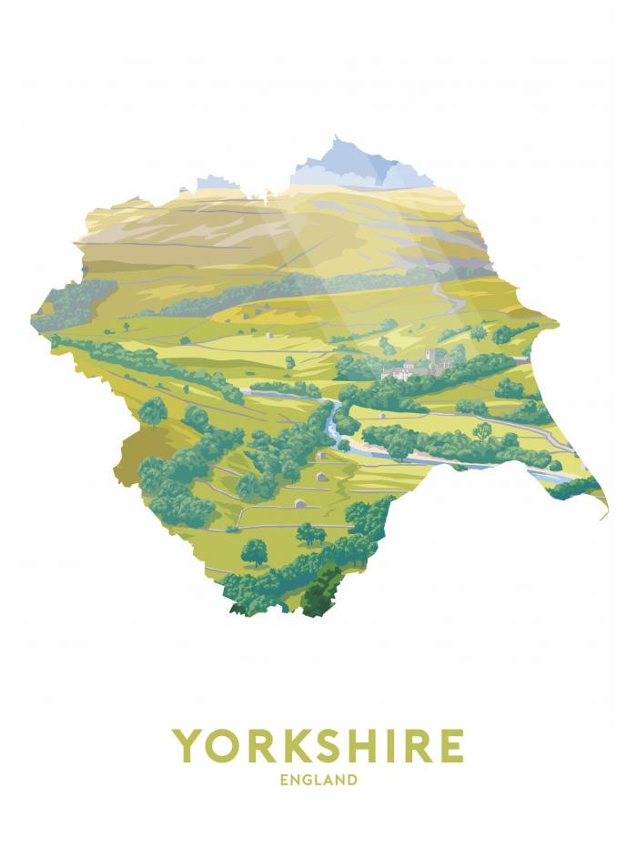 Place in Print Stephen Millership Yorkshire - England Travel Poster Art Print