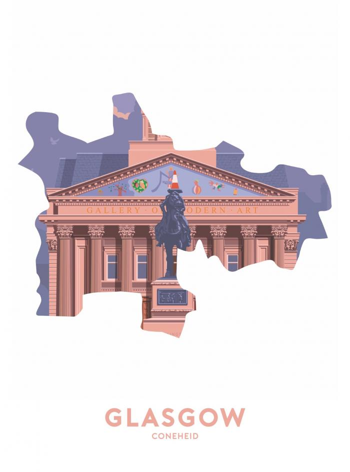 Place in Print Stephen Millership Glasgow - Coneheid Travel Poster Art Print