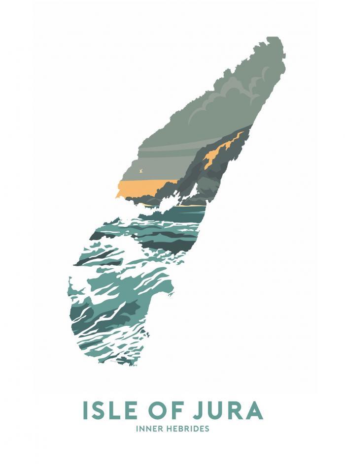 Place in Print Stephen Millership Isle of Jura - Inner Hebrides Travel Poster Art Print