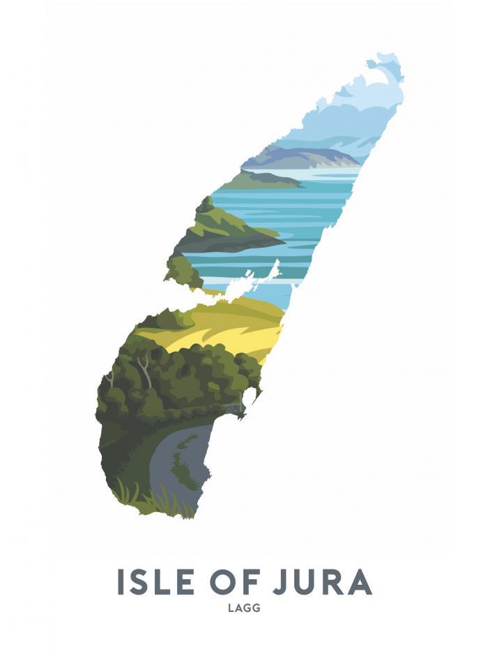 Place in Print Stephen Millership Isle of Jura - Lagg Travel Poster Art Print