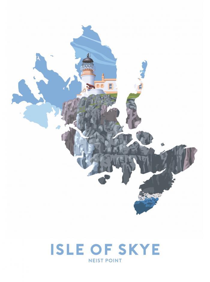 Place in Print Stephen Millership Isle of Skye - Neist Point Travel Poster Art Print