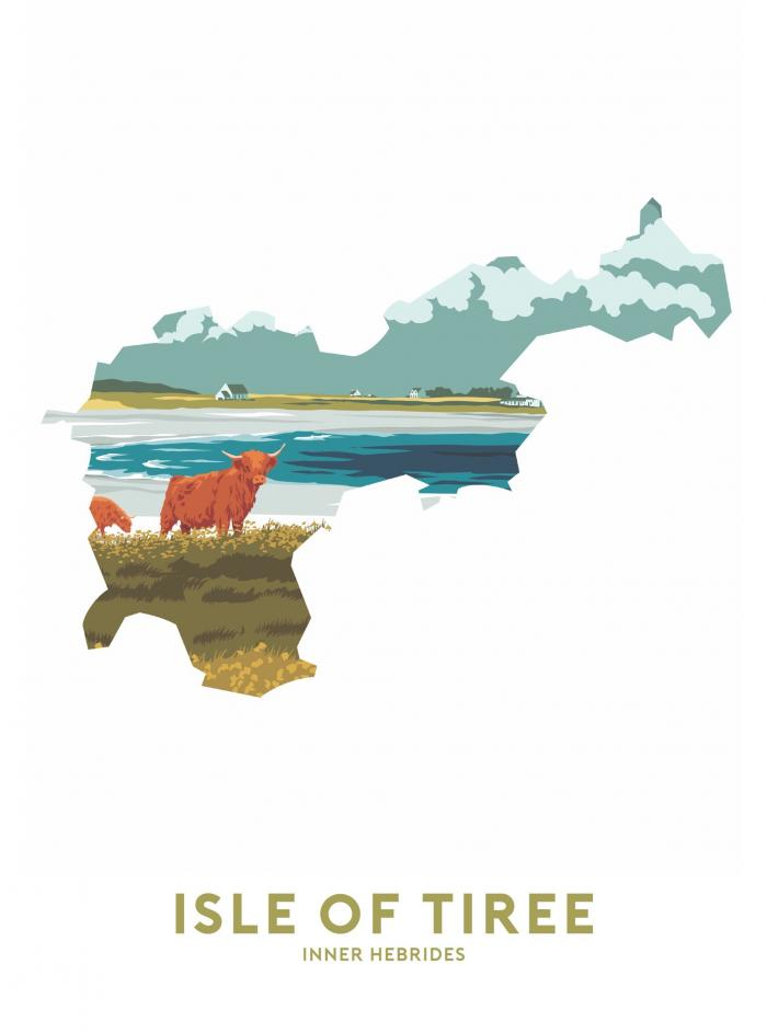 Place in Print Stephen Millership Isle of Tiree - Inner Hebrides Travel Poster Art Print