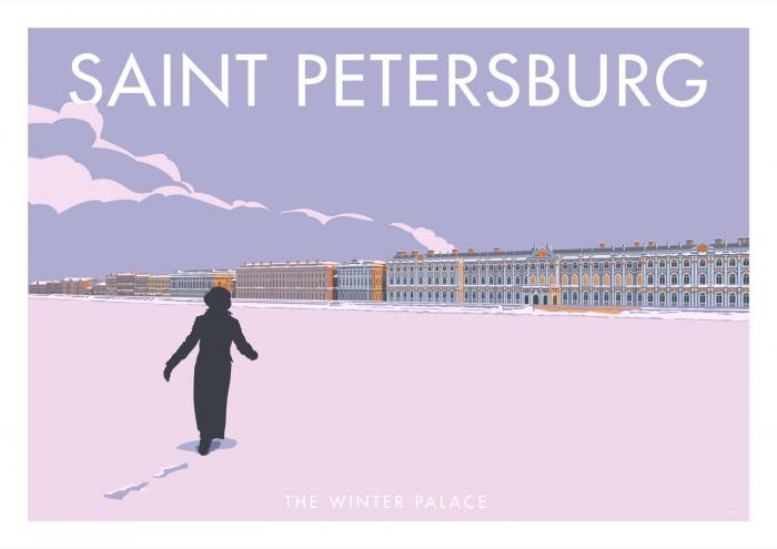 Place in Print Stephen Millership Saint Petersburg Winter Palace Travel Poster Travel Poster Art Print