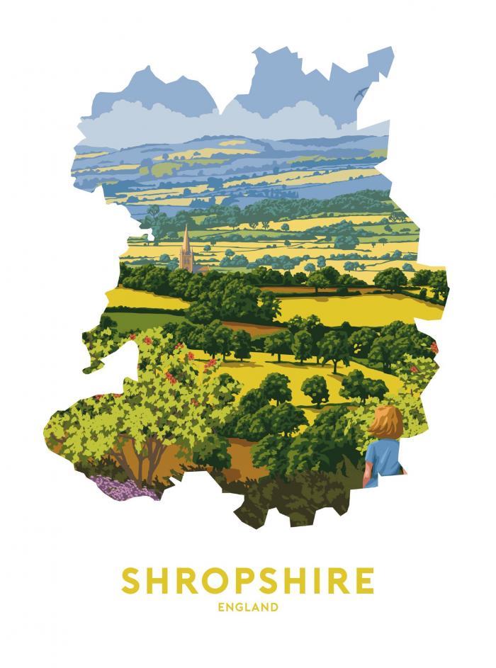 Place in Print Stephen Millership Shropshire UK Travel Poster Art Print
