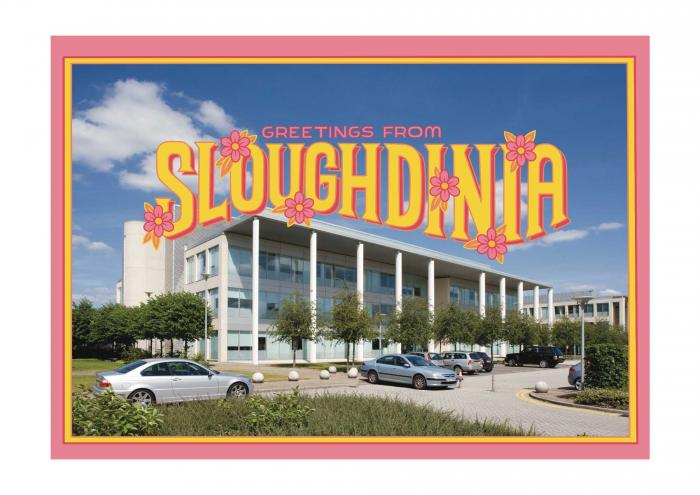Place in Print Staycation Nation Sloughdinia Art Print