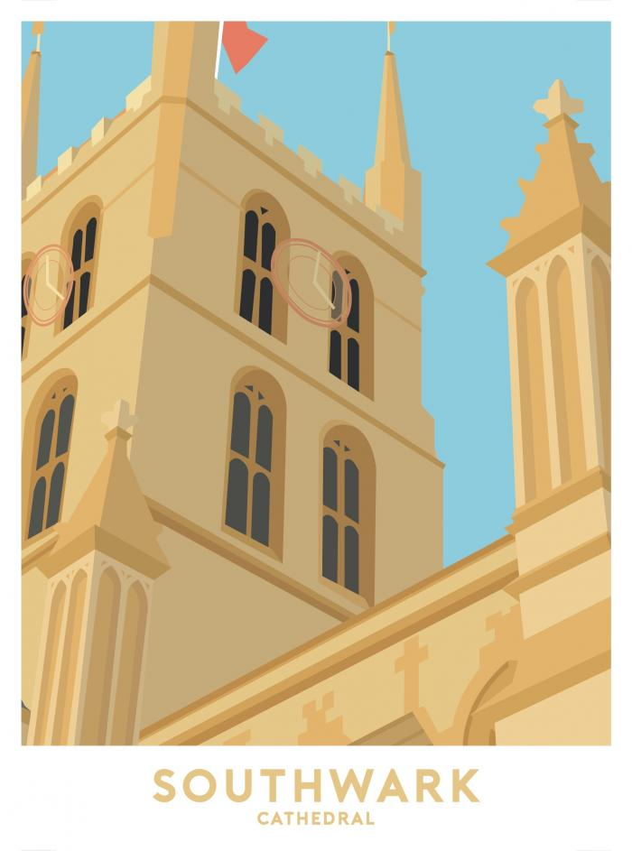 Place in Print Southwark Cathedral Travel Poster Art Print