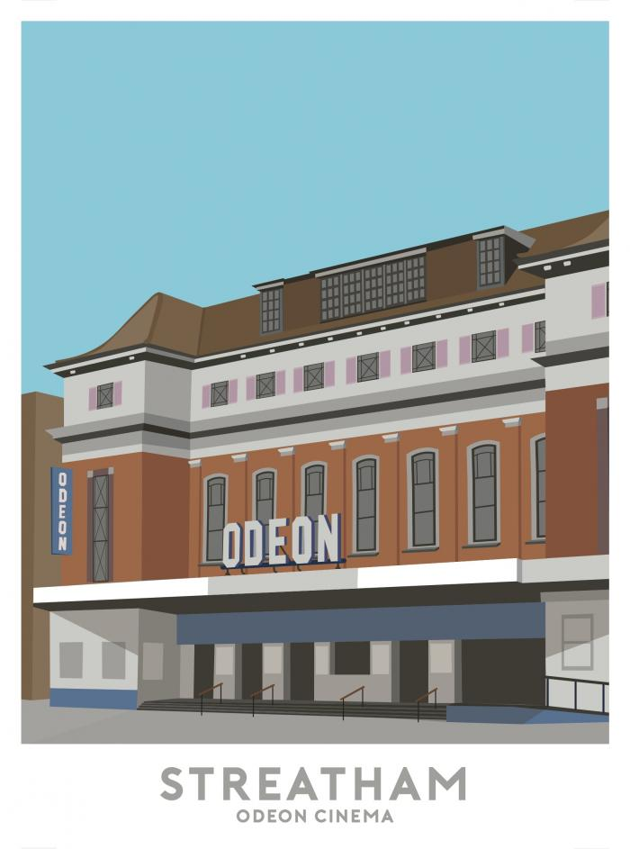 Place in Print Odeon Cinema Streatham Travel Poster Art Print