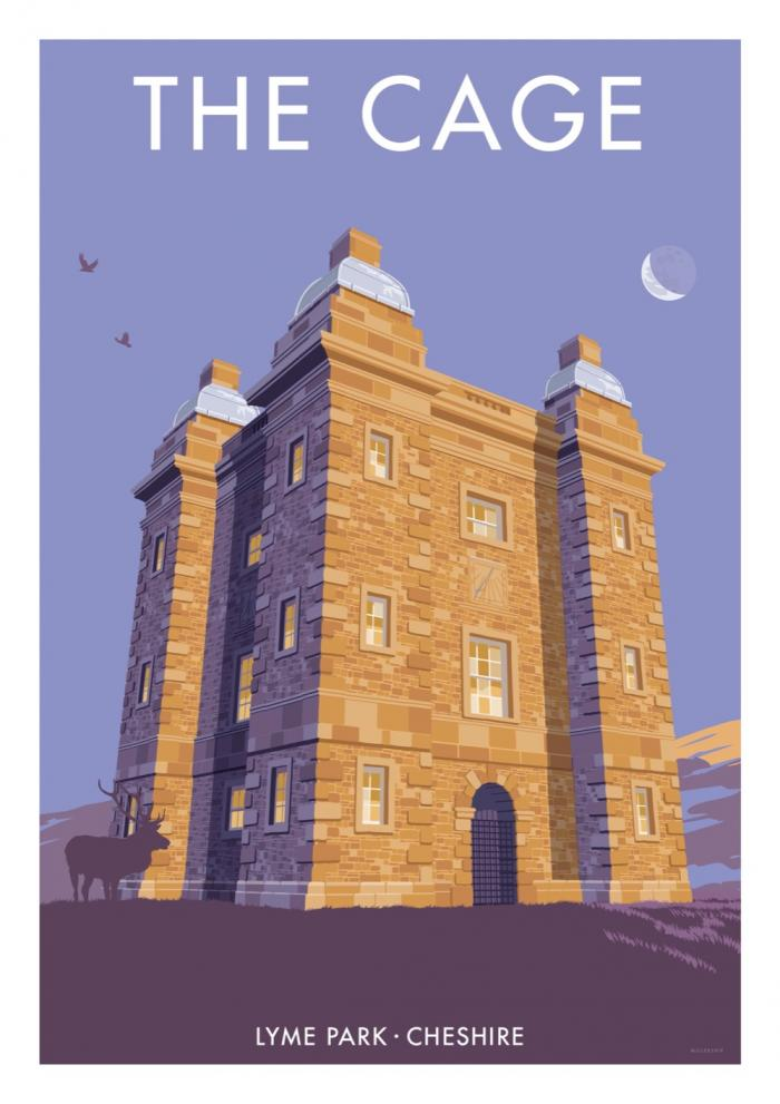Place in Print Stephen Millership The Cage Lyme Park Travel Poster Travel Poster Art Print