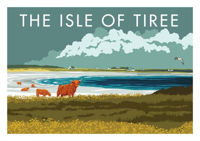 Place in Print Stephen Millership The Isle of Tiree Travel Poster Travel Poster Art Print