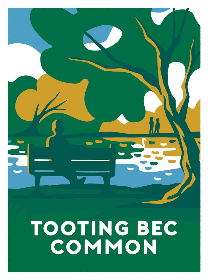 Place in Print Ginette Guiver Tooting Bec Common Art Print
