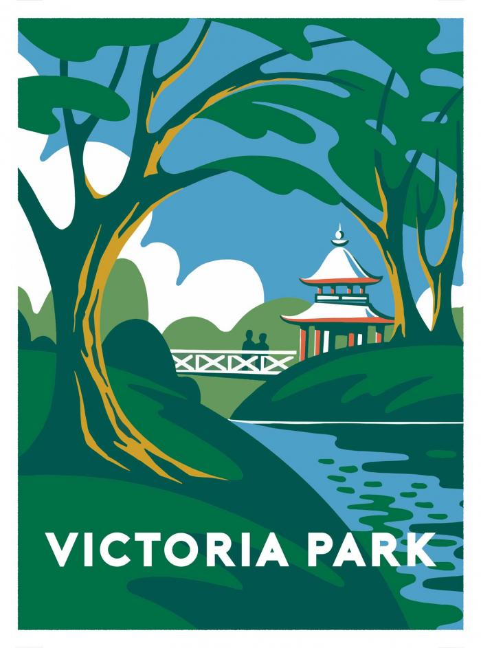 Place in Print Ginette Guiver Victoria Park, London Art Print
