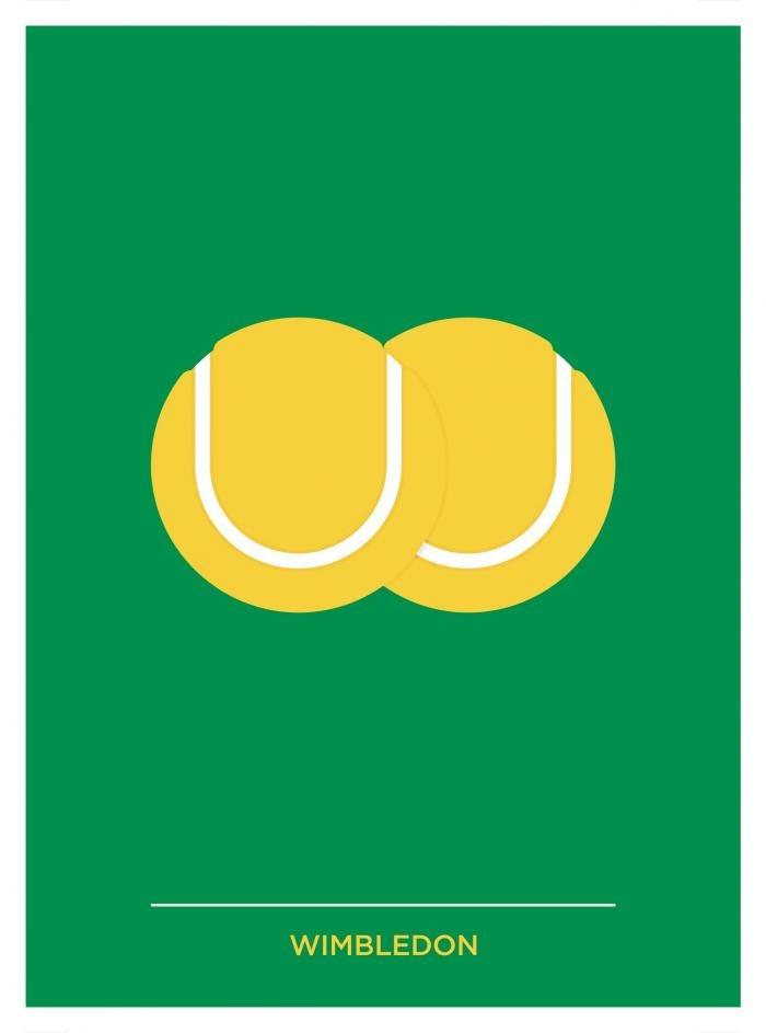 Place in Print Pâté W for Wimbledon Location Letters Art Print