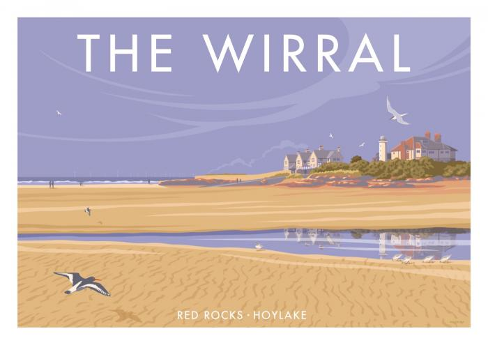 Place in Print Stephen Millership The Wirral Red Rocks Hoylake Travel Poster Travel Poster Art Print