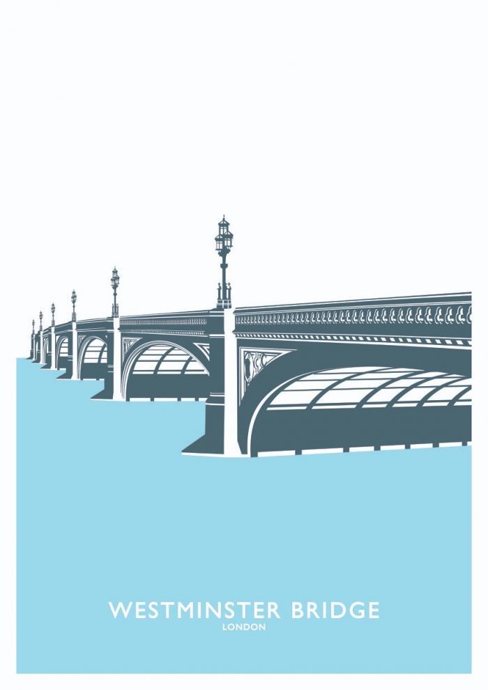 Place in Print Westminster Bridge Travel Poster Art Print