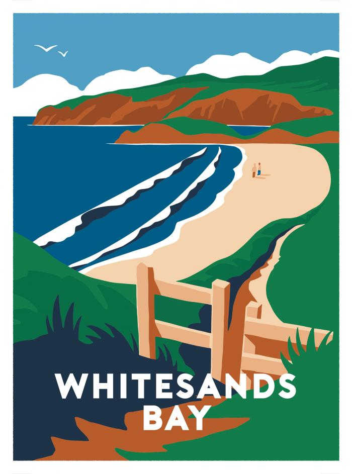 Place in Print Whitesands Bay Art Print