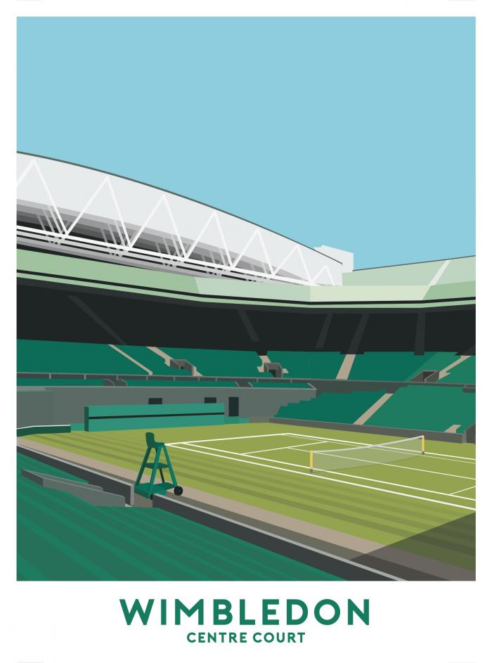 Place in Print Centre Court Wimbledon Travel Poster Art Print