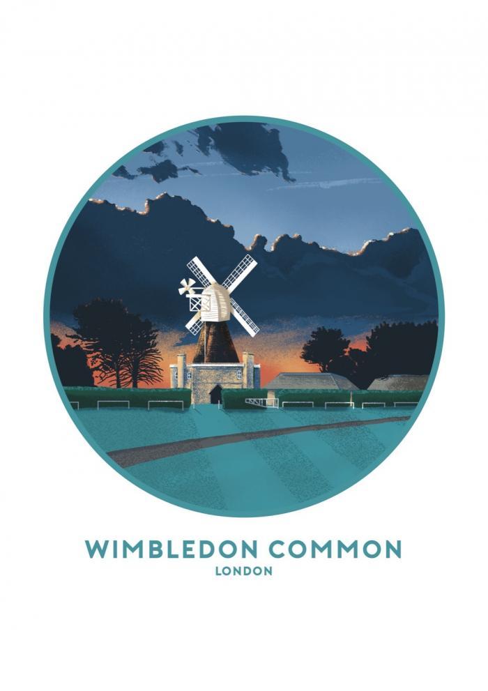 Place in Print Tom Camp Wimbledon Common Art Print