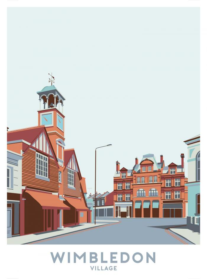 Place in Print Wimbledon Village Travel Poster Art Print