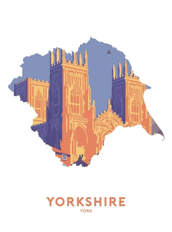 Place in Print Stephen Millership Yorkshire - York Travel Poster Art Print