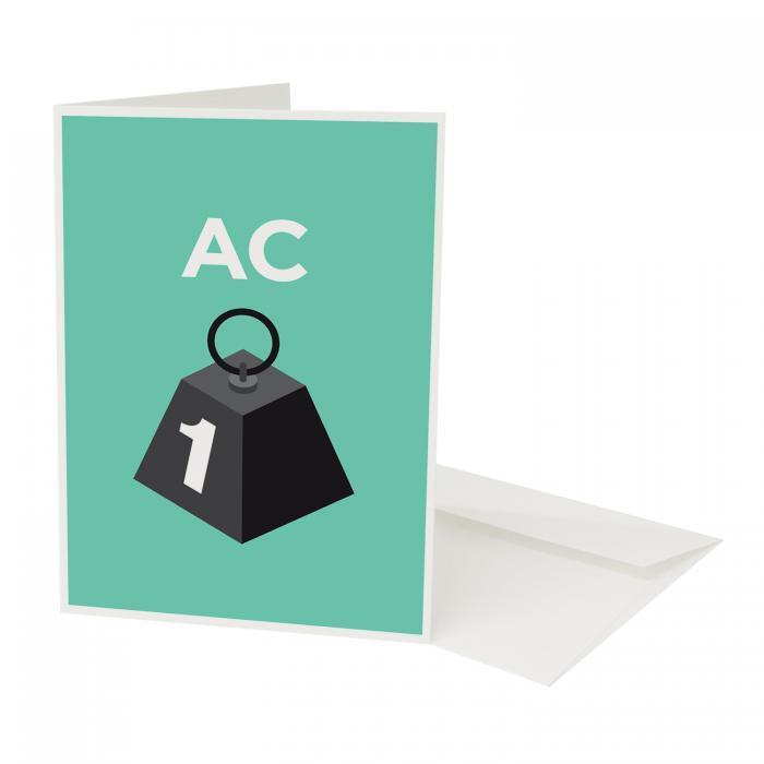 Place in Print Pate Acton Neighbourhood Pun Greetings Card