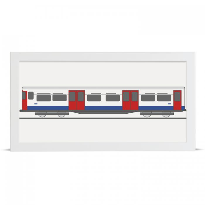 Place in Print Bakerloo Line 1972 Stock Train Art Print