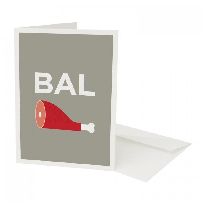 Place in Print Pate Balham Neighbourhood Pun Greetings Card