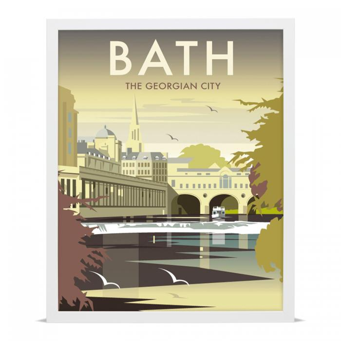 Place in Print Dave Thompson Bath Georgian City Travel Poster Art Print