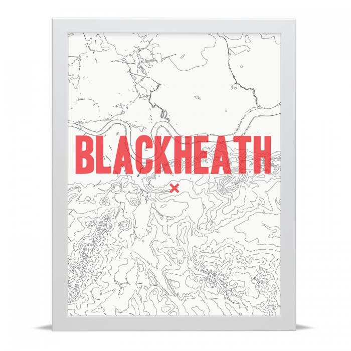 Place in Print Blackheath Contour Map Art Print