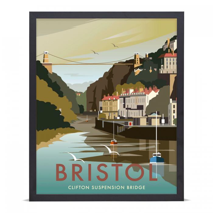 Place in Print Dave Thompson Bristol Clifton Suspension Bridge Travel Art Poster Print