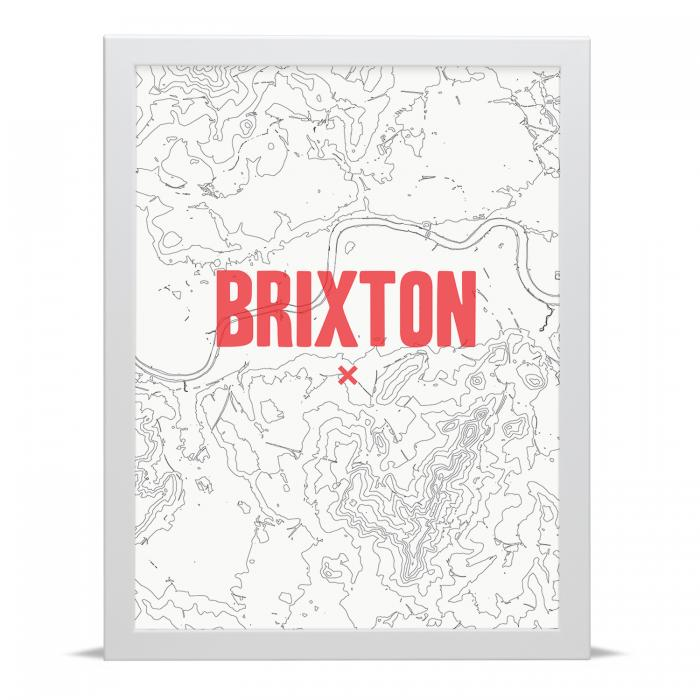 Place in Print Brixton Contour Map Art Print