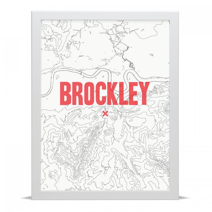 Place in Print Brockley Contour Map Art Print