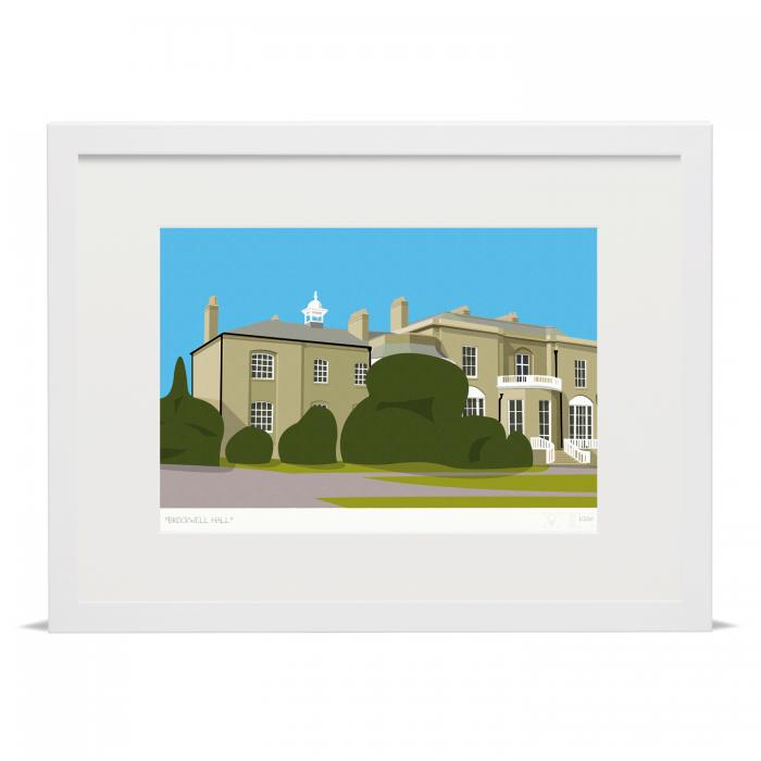 Brockwell Hall Art Poster Print