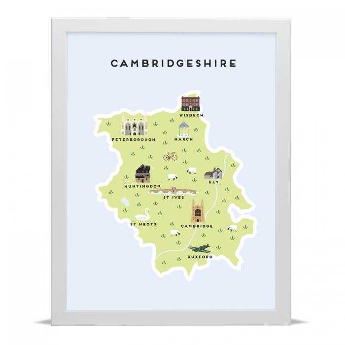 Place in Print Pepper Pot Studios Cambridgeshire Illustrated Map Art Print