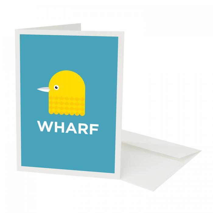 Place in Print Pate Canary Wharf Isle of Dogs Neighbourhood Pun Greetings Card