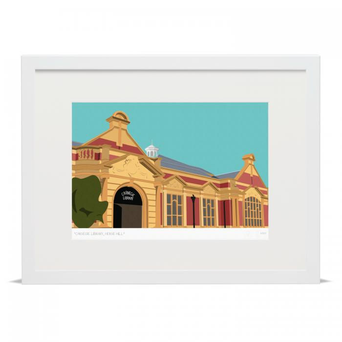 Carnegie Library Herne Hill Art Poster Print