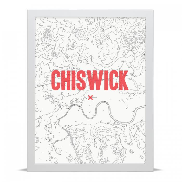 Place in Print Chiswick Contour Map Art Print
