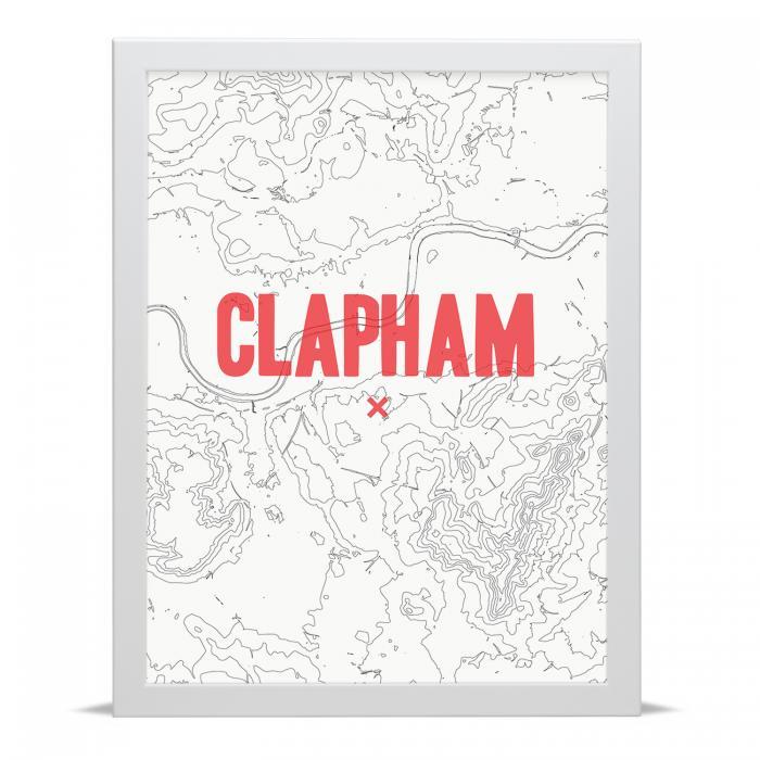Place in Print Clapham Contour Map Art Print